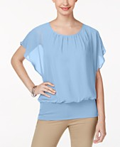 e9b196bc56 JM Collection Flutter-Sleeve Top, Created for Macy's