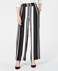 Petite Striped Soft Pants