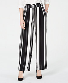 John Paul Richard Petite Striped Soft Pants