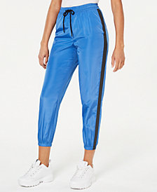 Waisted Parachute Cropped Jogger Pants