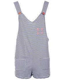 Big Girls Striped Cotton Romper Coverup