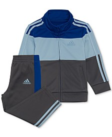 adidas Baby Boys 2-Pc. Colorblocked Track Jacket & Pants Set