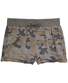 Imperial Star Big Girls Camouflage Shorts