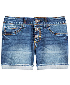 Imperial Star Big Girls Marty Cuffed Denim Shorts