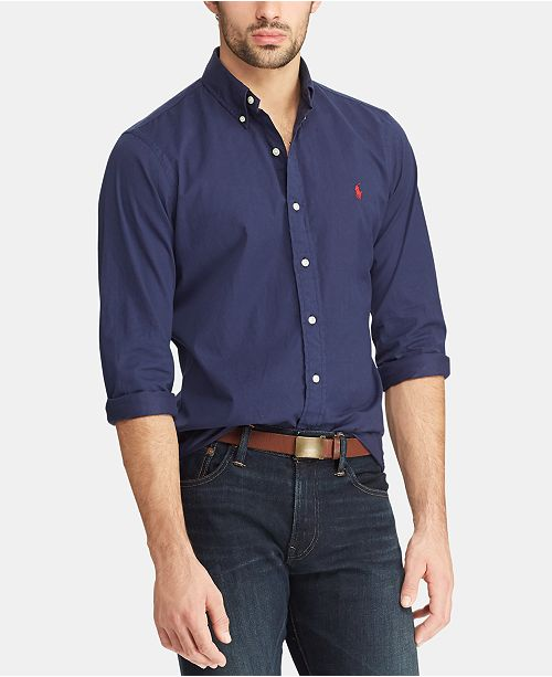 eaca3ecf Polo Ralph Lauren Men's Slim Fit Garment-Dyed Twill Shirt & Reviews ...
