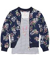 65ee0111bfd3 Belle Du Jour Big Girls 3-Pc. Floral-Print Bomber Jacket