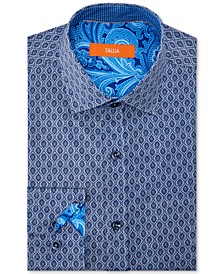 Men's Slim-Fit Non-Iron Performance Stretch Motif Dress Shirt
