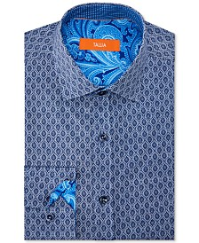 Tallia Men's Slim-Fit Non-Iron Performance Stretch Motif Dress Shirt