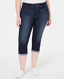 Plus Size Sculpting Capri Jeans