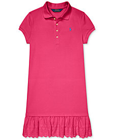 Polo Ralph Lauren Big Girls Eyelet Polo Dress