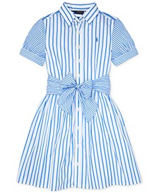 Big Girls Striped Cotton Shirtdress