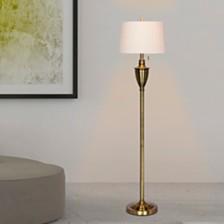 """Fangio Lighting's 1589AB 61"""" Antique Classic Urn Floor Lamp"""