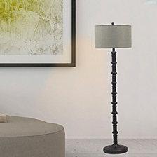 """Fangio Lighting's 1597ORB 63"""" Metal Stacked Floor Lamp"""