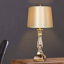 """5160 Pair of 28"""" Mercury Glass And Brass Table Lamps"""