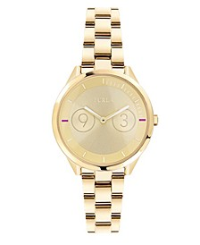 Women's Metropolis Gold Dial Stainless Steel Watch