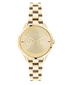 Furla Women's Metropolis Gold Dial Stainless Steel Watch