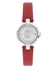 Furla Women's Linda Silver Dial Calfskin Leather Watch