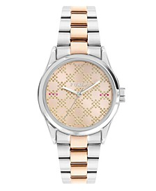 Women's Eva Rose Dial Stainless Steel Watch