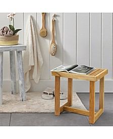 """18"""" Shower Bench with Solid American White Oak"""