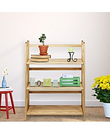 Montego 3-Shelf Folding Bookcase
