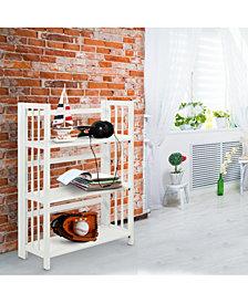 "3 - Shelf Folding Stackable Bookcase 27.5"" Wide"