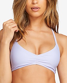 Volcom Juniors' Simply Solid Strappy-Back Halter Bikini Top