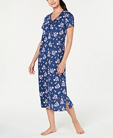 Printed Soft Knit Cotton Nightgown, Created for Macy's