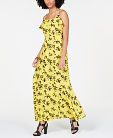 MICHAEL Michael Kors Ruffled Floral-Print Dress