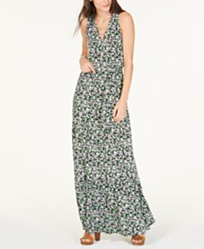 MICHAEL Michael Kors Printed Chain-Embellished Dress