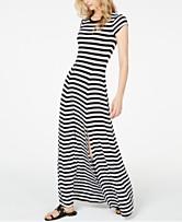 f50285774502 MICHAEL Michael Kors Striped Slit-Front Maxi Dress