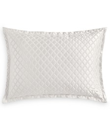 Hotel Collection Luxe Border 170-Thread Count Quilted King Sham, Created for Macy's