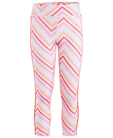 Calvin Klein Big Girls Zigzag-Print Capri Leggings