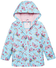 Carter's Toddler & Little Girls Hooded Butterfly-Print Rain Jacket