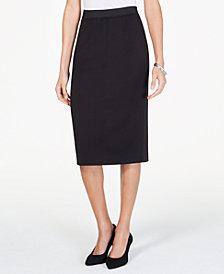 Alfani Curvy Scuba Midi Skirt, Created for Macy's