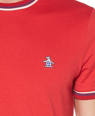 Original Penguin Men S Sticker Pete Embroidered Logo T Shirt T