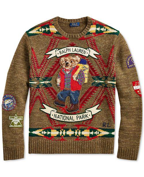 fc6d19b8 Polo Ralph Lauren Men's Great Outdoors Hiking Bear Sweater & Reviews ...