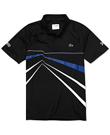 Lacoste Men's Novak Djokovic Ultra Dry Geo-Print Polo Shirt