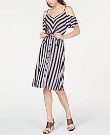 I.N.C. Chevron-Print Midi Dress, Created for Macy's