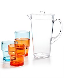 5-Pc. Acrylic Pitcher & Stackable Tumbler Set, Created for Macy's