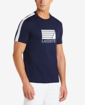 27fcd8895f76b4 Lacoste Men s Logo Graphic Stripe T-Shirt
