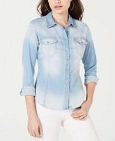 GUESS Denim Snap-Closure Shirt
