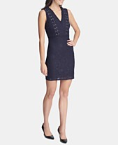 GUESS Sleeveless Lace-Up Bodycon Dress 311b5933a