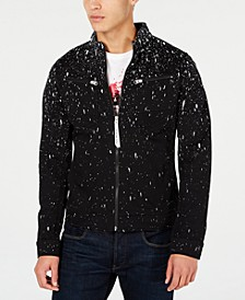 Men's Slim-Fit Paint Splatter Jacket, Created for Macy's