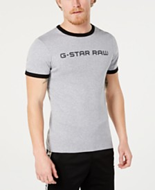 G-Star RAW Men's Rodis Logo Graphic Ringer T-Shirt, Created for Macy's