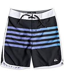 "Quiksilver Boys Everyday Grass Roots Colorblocked Stripe 17"" Board Shorts"