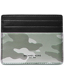 Michael Kors Men's Kent Camo Tall Card Case