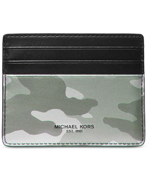 dbdceb75586 Michael Kors Men s Kent Camo Tall Card Case   Reviews - All ...