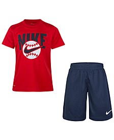 Toddler Boys 2-Pc. Ball-Print T-Shirt & Shorts Set