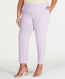 Bar III Plus Size Bi-Stretch Pants, Created for Macy's