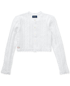 Polo Ralph Lauren Big Girls Scalloped Cotton Shrug